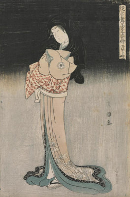 Utagawa Toyokuni - The Actor Yamato-ya as O-Chie, the wife of Banzuiin Chobei, from Yakusha Butai no Sugatae, 1795