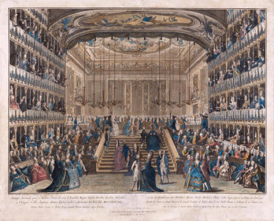 Antonio Baratta - The Noble Theater at St. Benoit [Nobiliore Theatro de vico S. Benedicti], about 1782