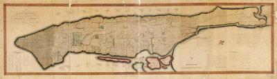 William Bridges and Peter Maverick - Map of the city of New York and Island of Manhattan, as laid out by the commissioners appointed by the legislature, April 3d, 1807
