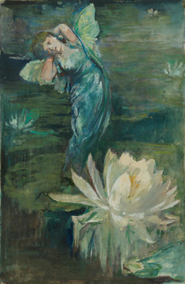 John La Farge - The Spirit of the Water Lily, 1861-1862
