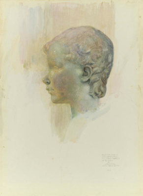 Joseph Lindon Smith - Head of a Putti, 1894