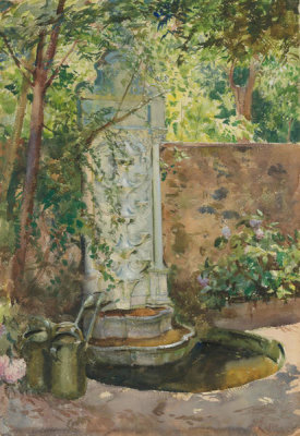 William Bruce Ellis Ranken - In a Turkish Garden, 1910