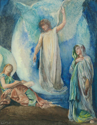 John La Farge - The Recording Angel, July 1890