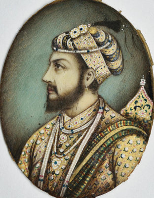 Indian, Agra - Miniature of Shah Jahan, 19th century