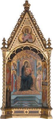 Bartolommeo Bulgarini - The Virgin Enthroned with Saints and Angels, about 1355-1360