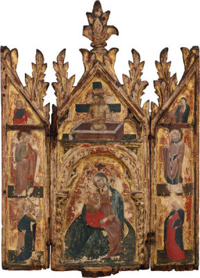 Italian, Venice - Virgin of Humility with Saints, about 1365-1415