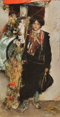 Antonio Mancini - The Standard Bearer of the Harvest Festival, 1884