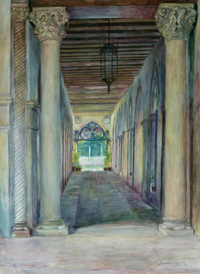Joseph Lindon Smith - Entrance Arcade of the Palazzo Barbaro, 1892