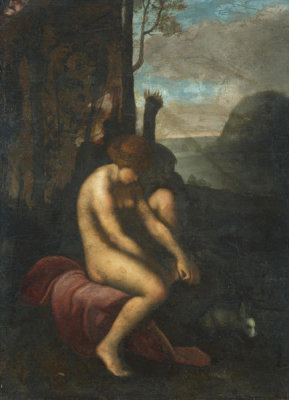 Italian - Venus Wounded by a Rose's Thorn, 1500-1550