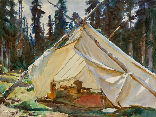 A Tent in the Rockies, about 1916 by John Singer Sargent - Paper ...